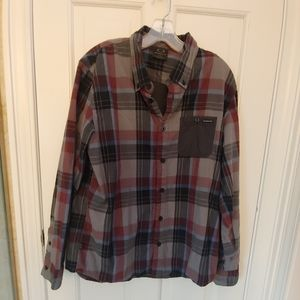 Plaid Oakley Button Down Shirt Men's Size Large